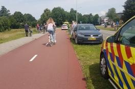 Vrouw zwaargewond na val met fiets
