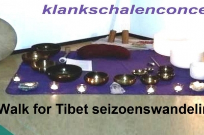 Evenement: Walk for Tibet seizoenswandeling met klankschalenconcert