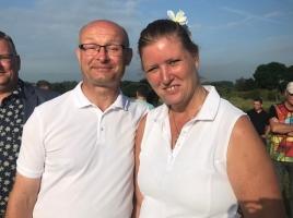 Vierdaagsebruiloft in Grave: Paul en Linda ontmoetten elkaar bij evenement en trouwen hier dus ook